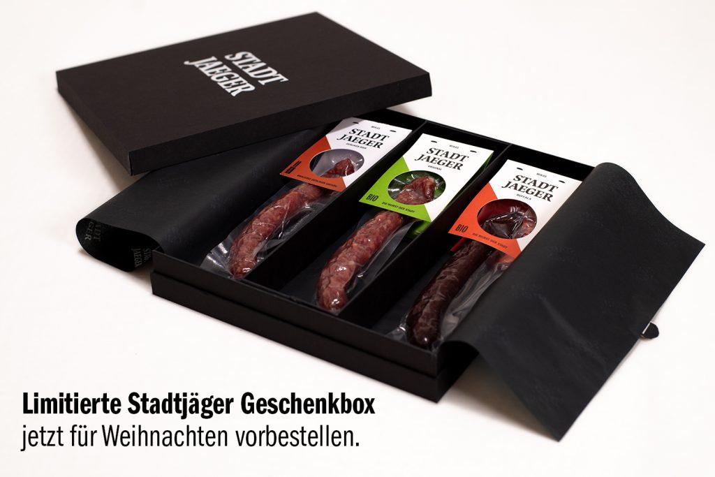 Limitierte Geschenkbox mit Wurst Stadtjäger von Mikas